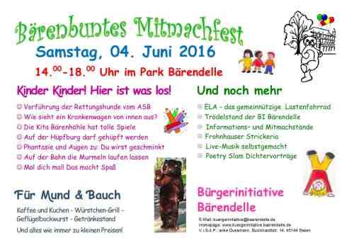 2016 06 04 - Bärenbuntes Mitmachfest - quer für DINA6
