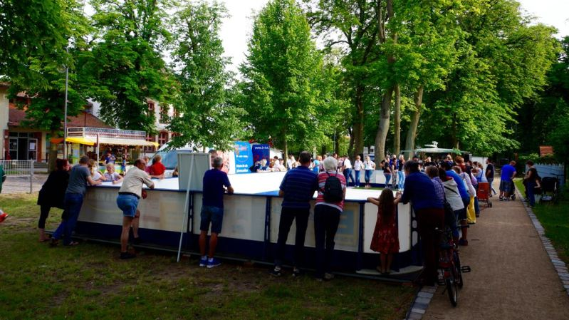 EisstockCup-Bahn zum Heimatfest 2017