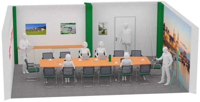 Mesa de conferencias clásica diseñada por R. Bellmann