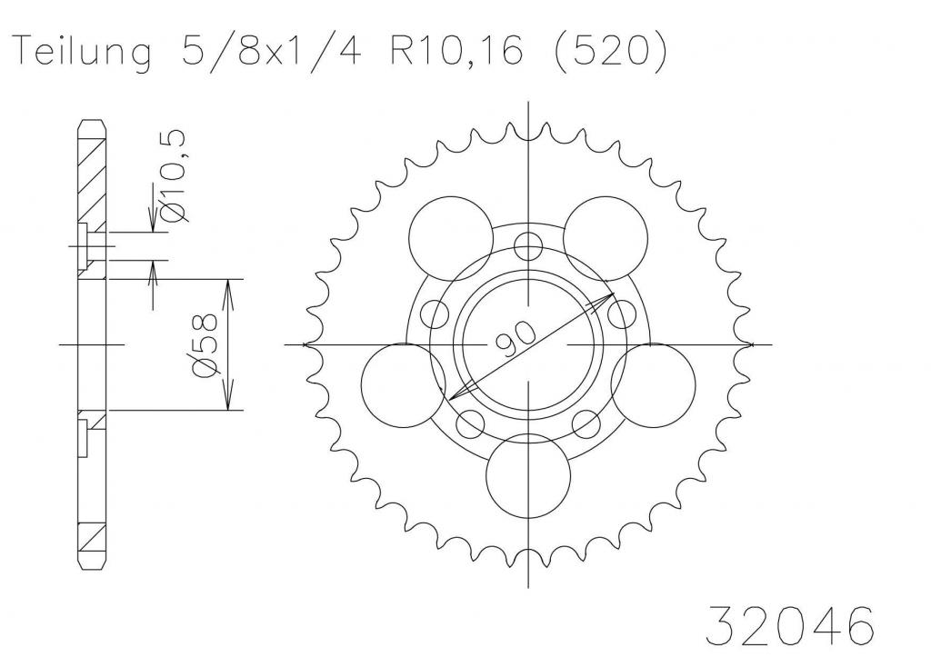 Kettenrad 36 Z-653204636