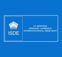 Jesús Manuel Coca recibe el Premio Jurídico Internacional del ISDE en la modalidad de Derecho Deportivo