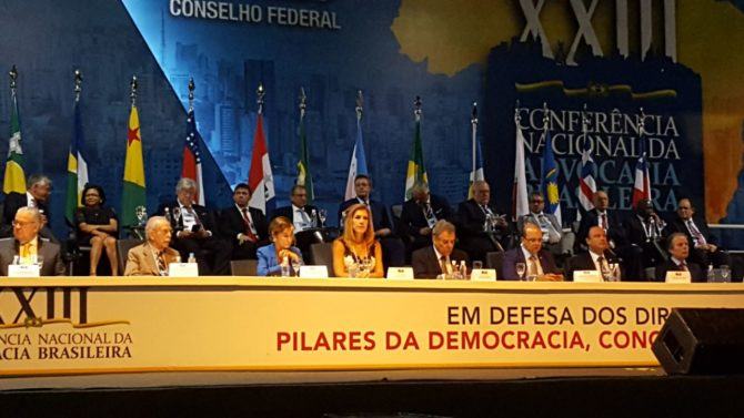 Victoria Ortega asiste al Congreso Nacional de Abogados de Brasil