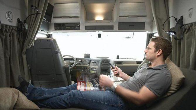 El TJUE prohíbe el descanso semanal normal en la cabina