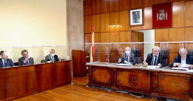 Sala de juicios en Jaén fue equipada con mamparas