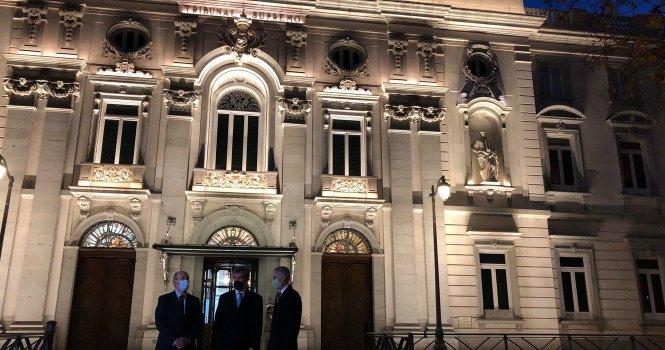 Sistema de iluminación del Supremo destaca al Palacio de las Salesas