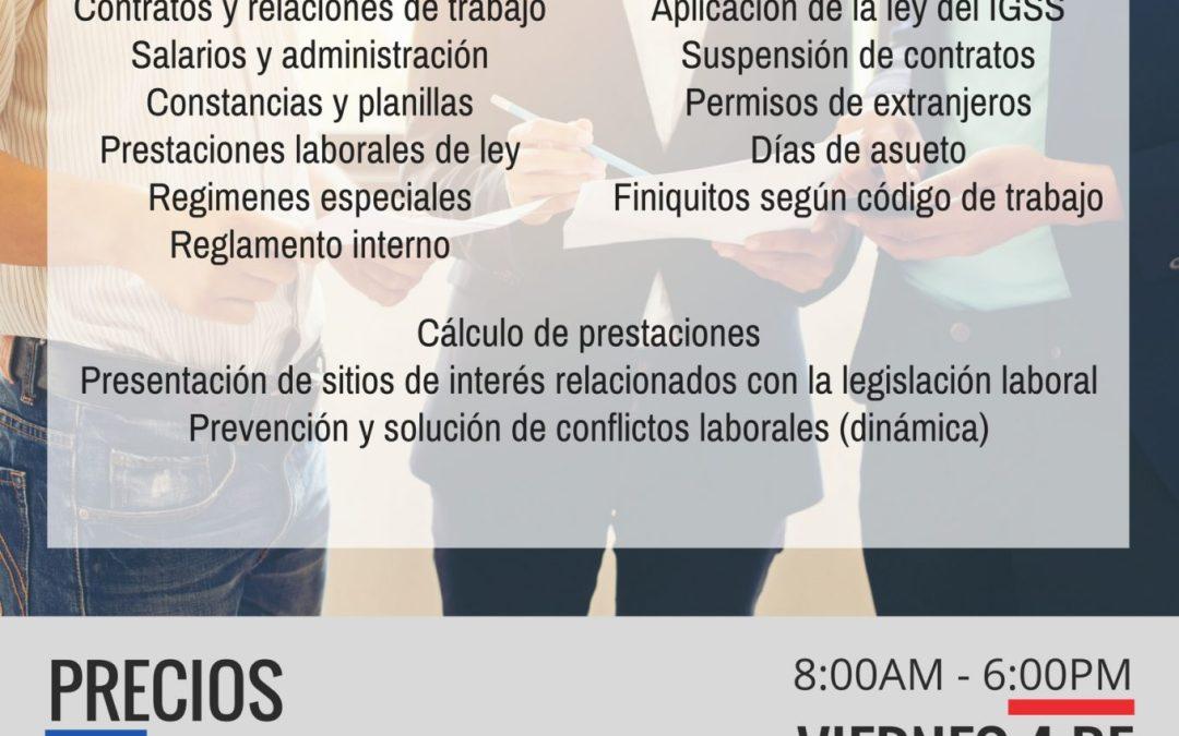 Relaciones laborales y prevención de demandas (Antigua Guatemala)