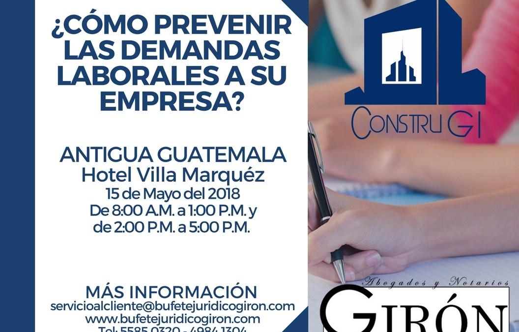Relaciones Laborales y Prevención de Demandas – Antigua Guatemala.