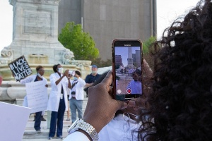 White Coats for Black Lives protest.