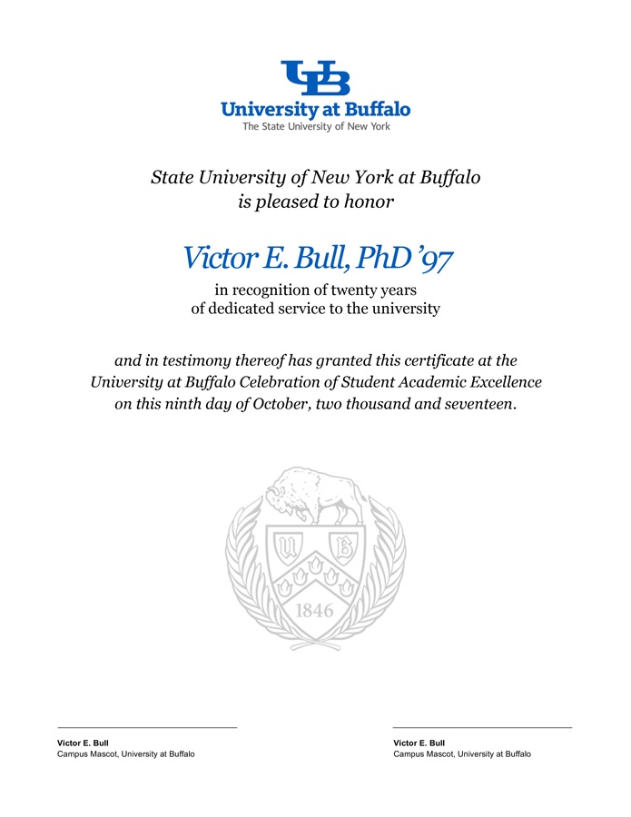 Award Certificate Templates Identity And Brand University At Buffalo