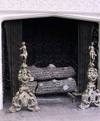 fireplace andirons