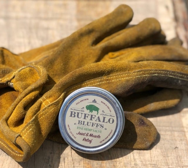 Joint & Muscle Relief Salve & pair of work gloves