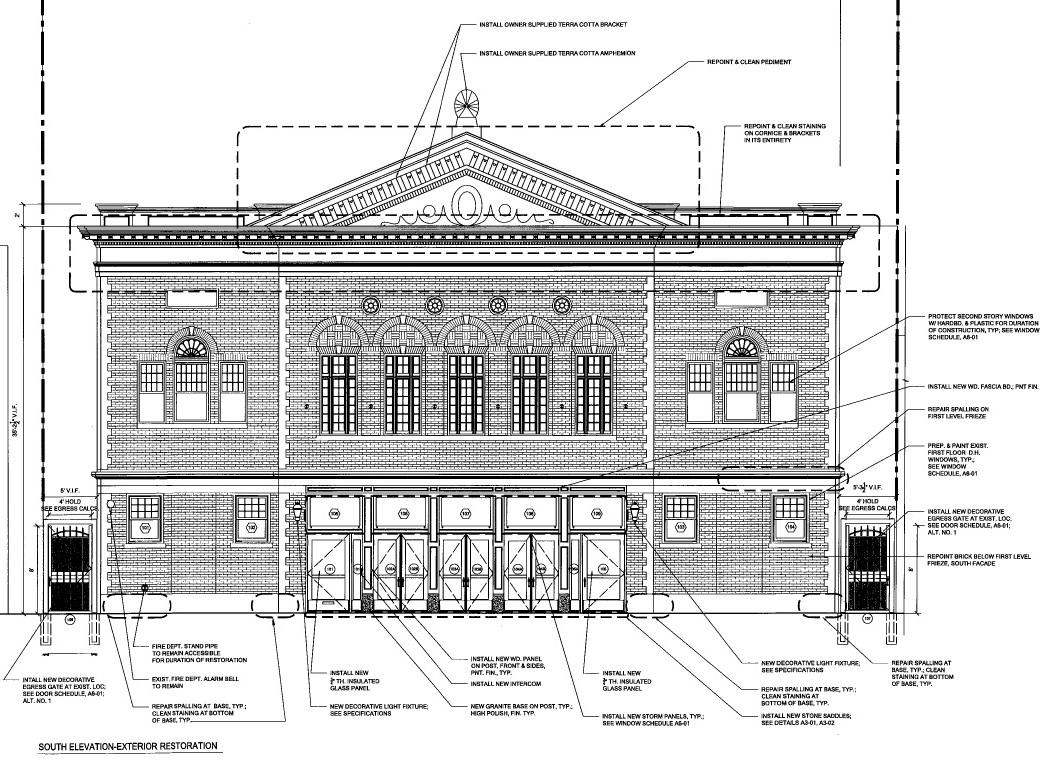 Allendale Theatre Façade Restoration Planned