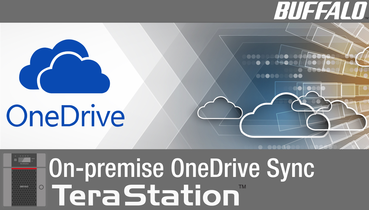 hight resolution of terastation nas on premise onedrive sync