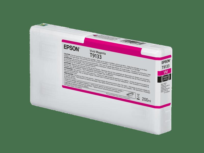 Epson T913300 UltraChrome HDX Vivid Magenta Ink Cartridge (200 ml)