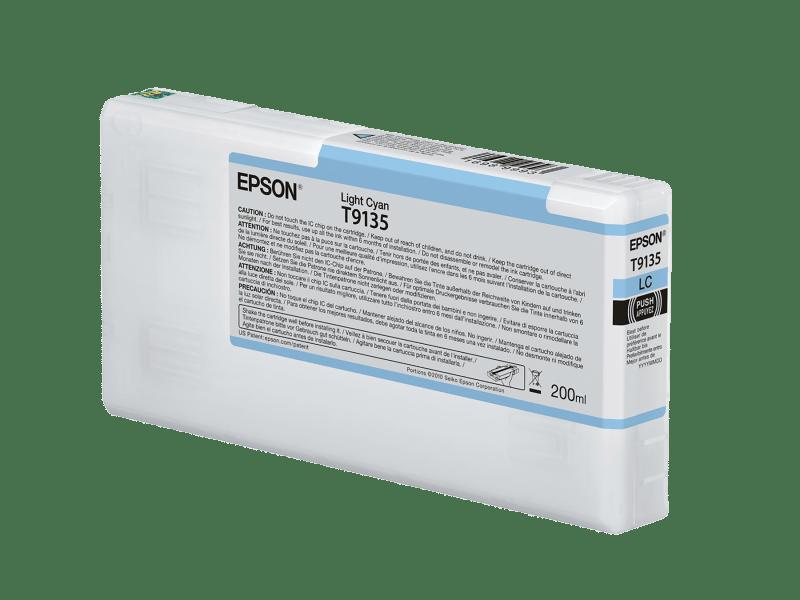 Epson T913500 UltraChrome HDX Light Cyan Ink Cartridge (200 ml)