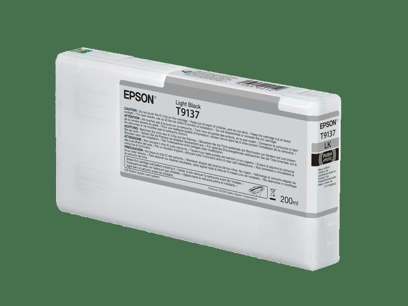 Epson T913700 UltraChrome HDX Light Black Ink Cartridge (200 ml)