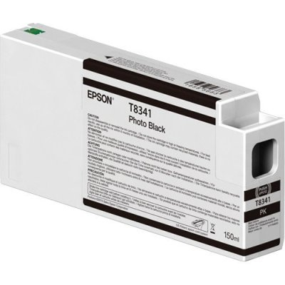 Epson T834100 UltraChrome HD Photo Black Ink Cartridge (150 ml)