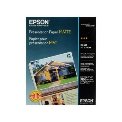 "Epson Presentation Matte Paper (8.5 x 11"", 100 Sheets) S041062"