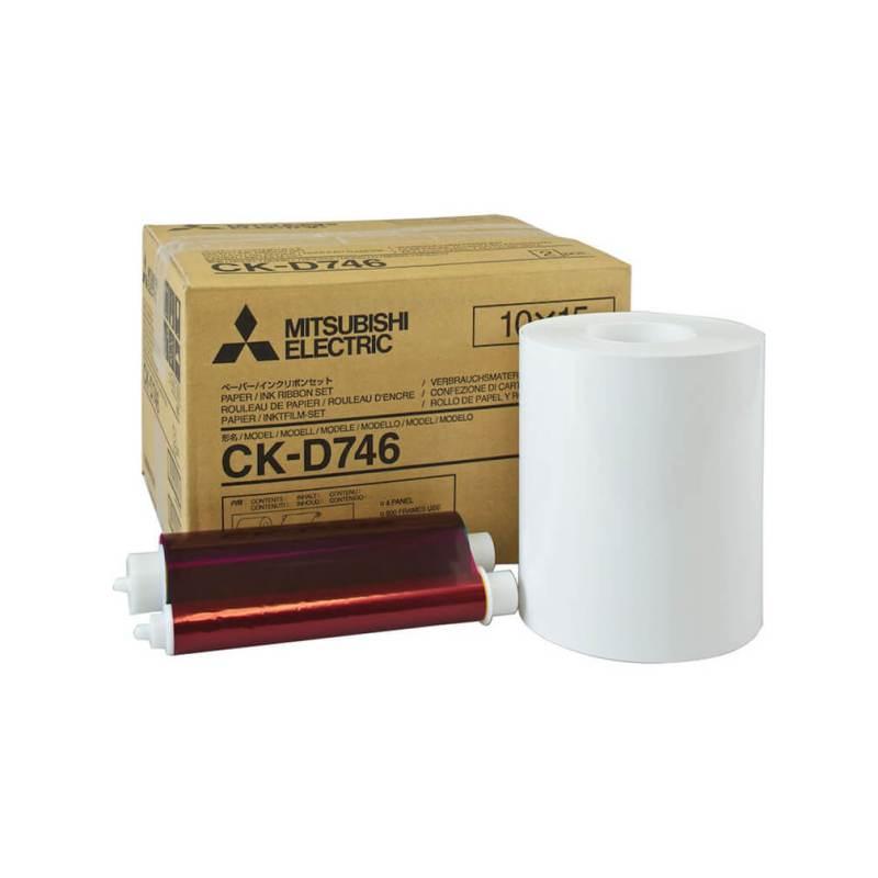 "Mitsubishi CK-D746 4x6"" Paper & Ribbon Media Kit For CP-D70DW, CP-D707DW & CP-D90DW Printer"
