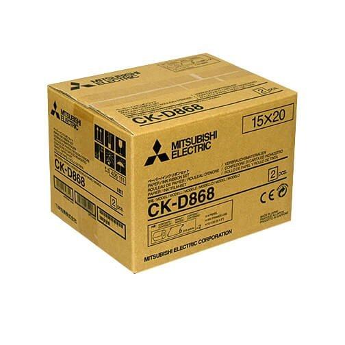 "Mitsubishi CK-D868 6x8"" Paper & Ribbon Media Kit For CP-D80DW & CP-D90DW Printer"