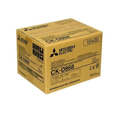 "Mitsubishi CK-D868 6x8"" Paper & Ribbon Media Kit For CP-D80DW & CP-D90DW Printer"