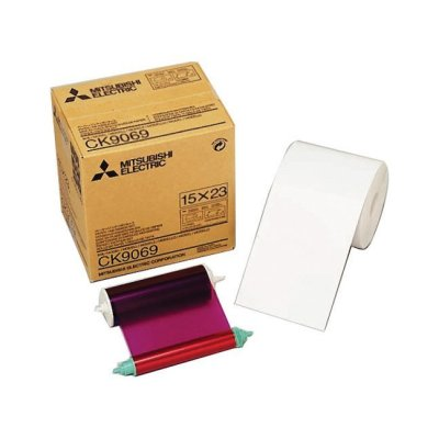 "Mitsubishi CK-9069 6x9"" Paper & Ribbon Media Kit for 9000-Series Printers"