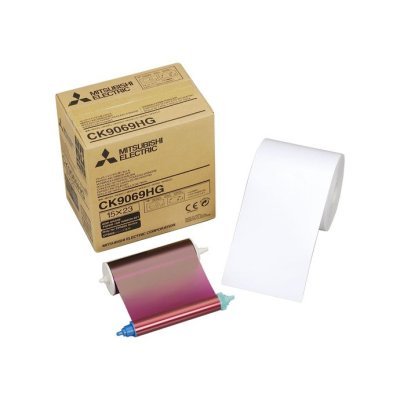 Mitsubishi CK-9069HG 6x9 Paper & Ribbon Media Kit for CP-9800DW & CP-9810DW Dye-Sub Printer
