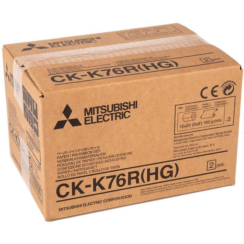 Mitsubishi CK-K76RHG 6″ High Grade Paper & Ribbon Media Kit for CP-K60DW-S Photo Printer