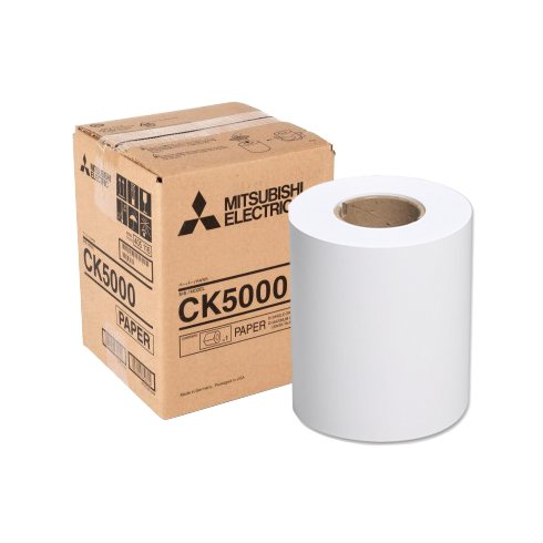 Mitsubishi CK5000 Roll Paper for CP-W5000DW Printer (250 Sheets - 8x12'' / 300 Sheets - 8x10'')