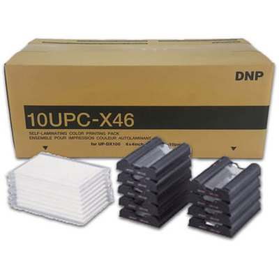 "DNP 10UPC-X46 4x6"" ID Passport Printer Media Kit (10 Sets, 250 Prints)"