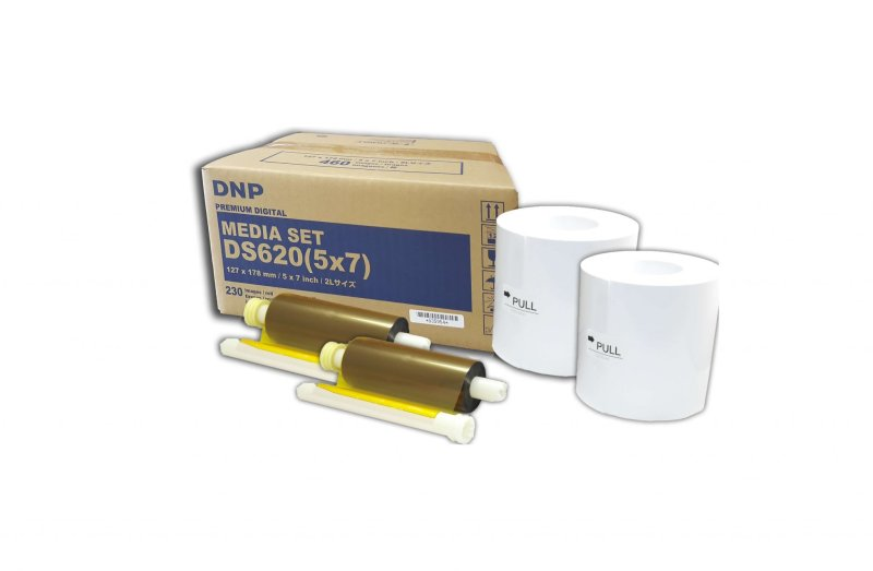 "DNP DS620A 5x7"" Dye Sub Printer Media Kit (2 Rolls, 460 Prints)"