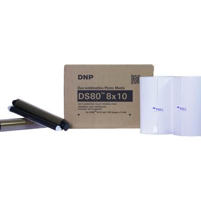 "DNP DS80 8x10"" Dye Sub Printer Media Kit (2 Rolls, 260 Prints)"