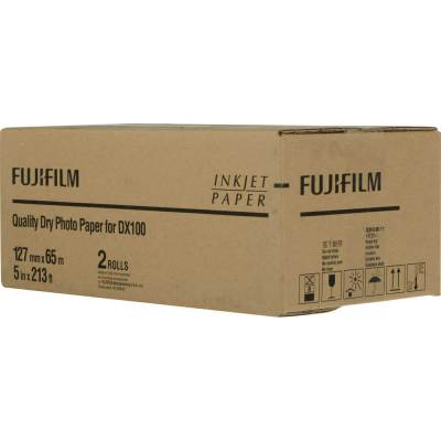 "Fujifilm Frontier-S DX100 5""x213' Quality Dry Photo Paper (2 Rolls, Lustre)"