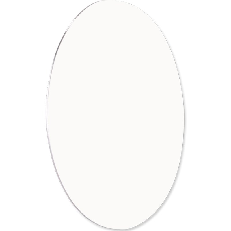 "ChromaLuxe Circle 8"" Round White Metal Photo Panel - 10 Panels / Case"