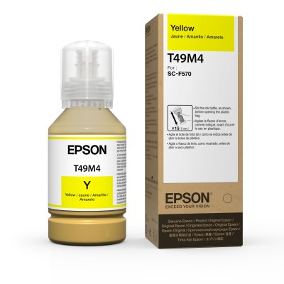 Epson T49M4 UltraChrome DS Yellow Ink for SureColor F570 (140 mL)