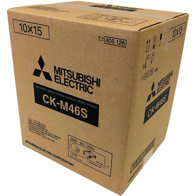 Mitsubishi CK-M46S 4x6″ Paper & Ribbon Media Kit for CP-M1A Photo Printer (1 Roll, 750 Prints)