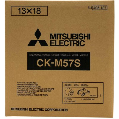 Mitsubishi CK-M57S 5x7″ Paper & Ribbon Media Kit for CP-M1A Photo Printer (1 Roll, 3.5x5″/800 Prints - 5x7″/400 Prints)