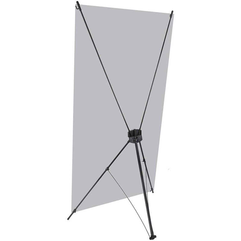 X Banner Stand 24x63″ - Lightweight Portable Display Stand (Stand Only)