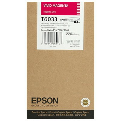 Epson T603300 Vivid Magenta UltraChrome K3 Ink Cartridge (220 ml)