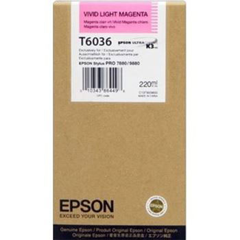 Epson T603600 Vivid Light Magenta UltraChrome K3 Ink Cartridge (220 ml)