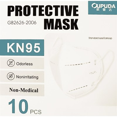 Protective Breathable Face Mask KN95 4 Layers GB2626-2006 10pcs