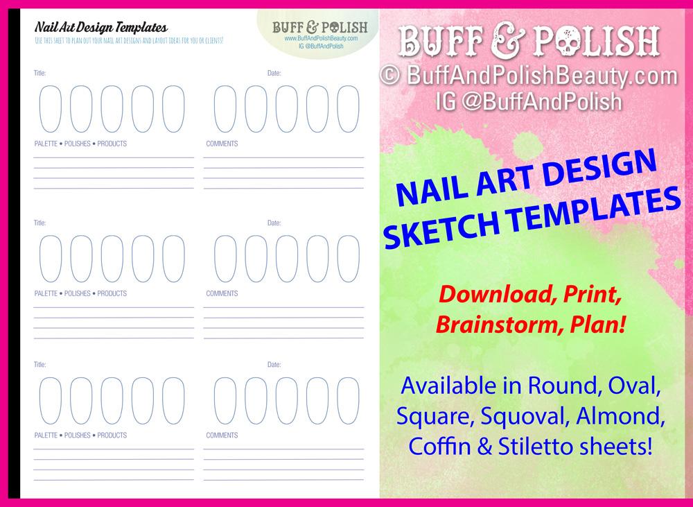 Nail Art Design Planning Templates  Buff  Polish