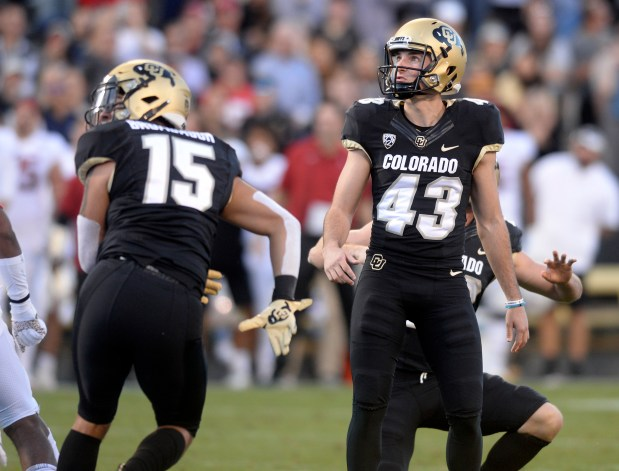 University of Colorado's Evan Price (43) ...