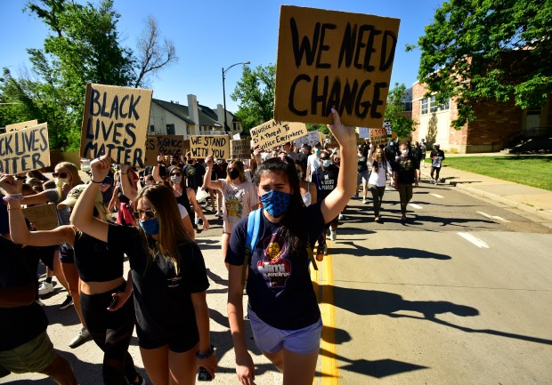 CU Buffs march for change as athletes, coaches, administrators lead peaceful protest