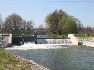 Jez Litovel - řeka Morava