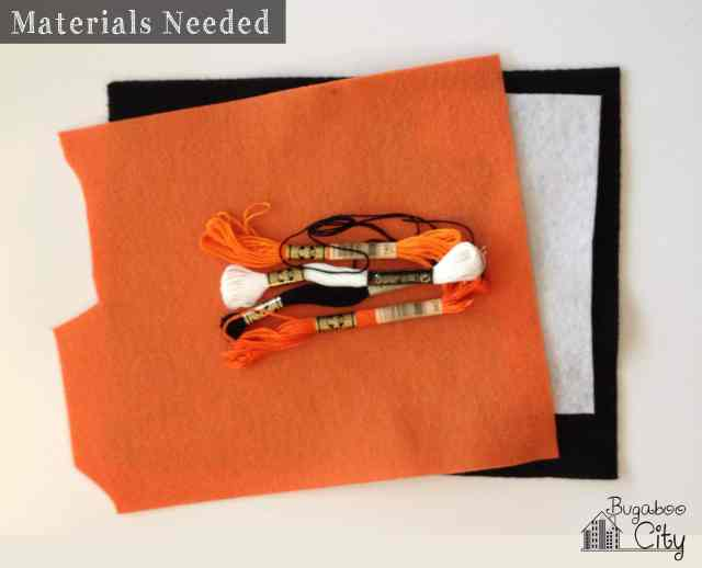 Materials Needed for DIY Felt Treat Bags