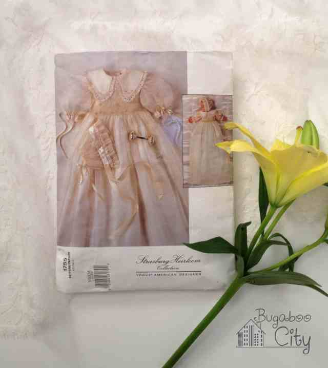 Vogue Heirloom collection baptism gown pattern
