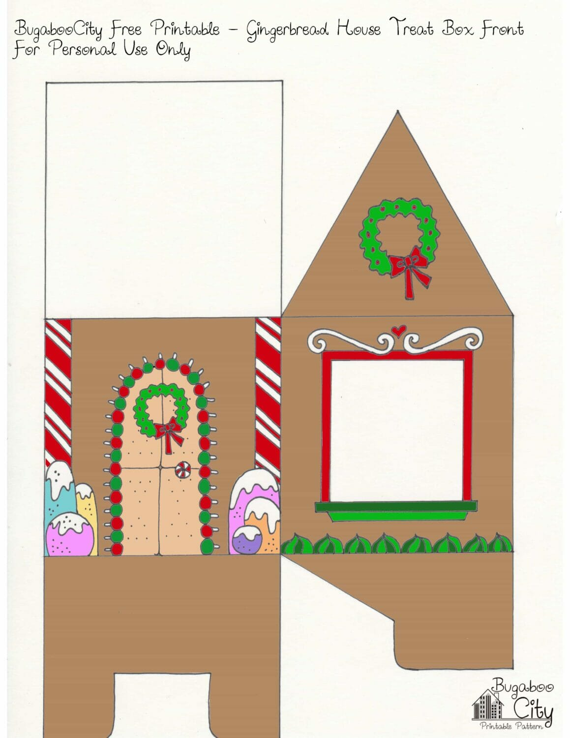 Gingerbread House Printable Front