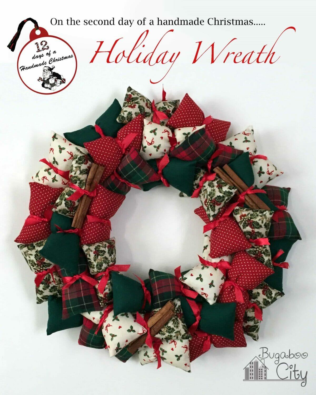 holiday pillow wreath bugaboocity