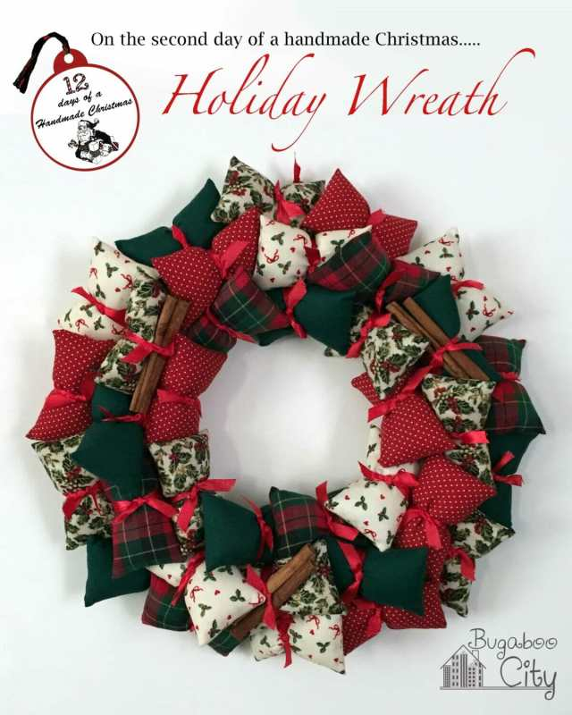 Holiday Pillow Wreath Tutorial